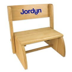 Personalized Kids Chair Red Retro Kitchen Chairs With Name Etsy Child S Wood Bench Step Stool Just Toddlers For Stepping Childrens Nursery Furniture Bed Bathroom Stoo Nat