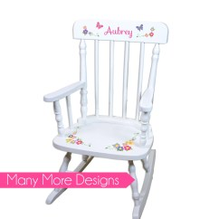Toddler Wooden Rocking Chair Comfortable Desk No Wheels Childs Etsy Personalized Rockers Childrens Custom Large White Spindle Rocker Nursery Furniture Wood Child Children Spin Whi