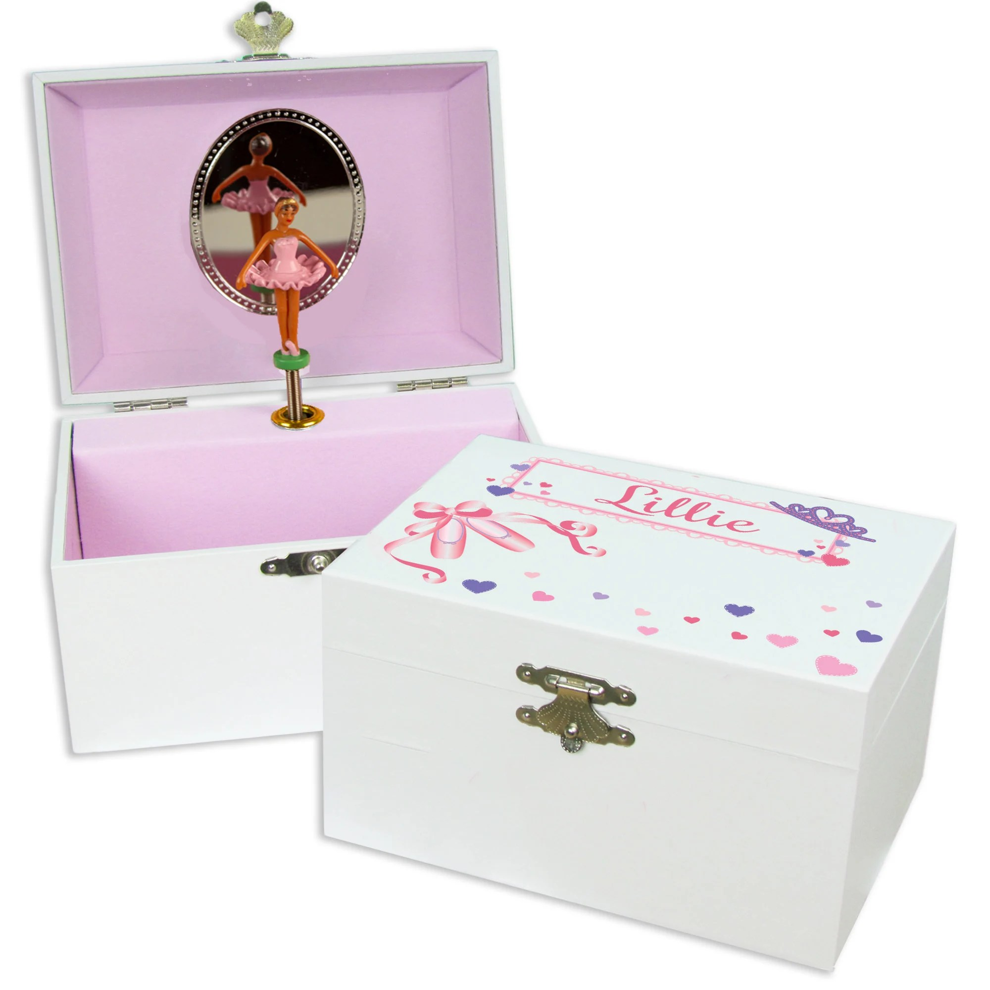 Personalized African American Ballerina Jewelry Box Girls