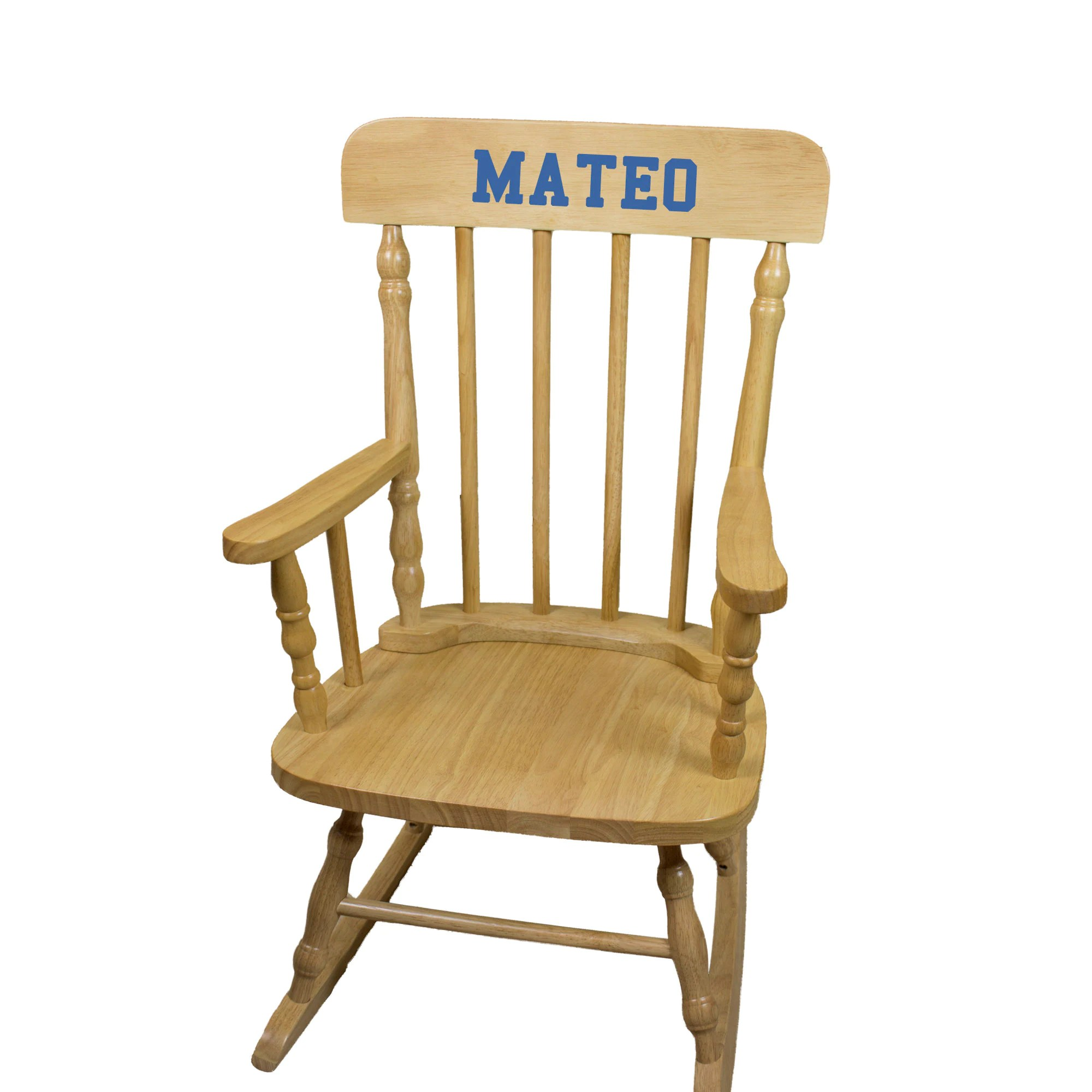 Kids Rocking Chairs Personalized Child S Wood Rocking Chair With Just Name Nursery Furniture Toddler Girl Boy Kids Custom Spindal Rocking Chairs Rocker Spin Nat