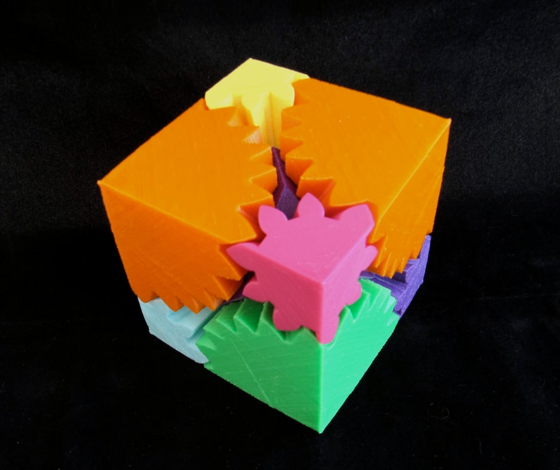 mechanical toy gear cube