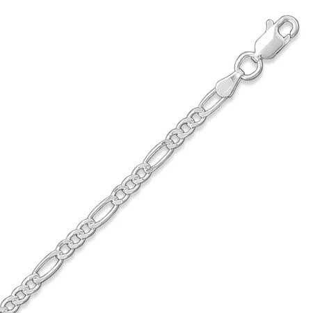 Sterling Silver 2.8mm FIGARO Chain Necklace or Bracelet 16