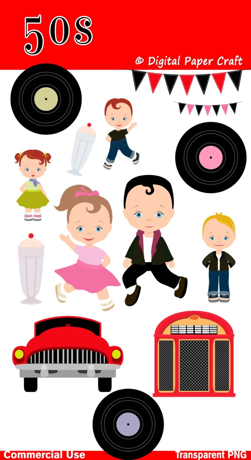 hight resolution of rock n roll clipart
