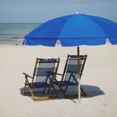 Beach Chairs And Umbrella Grey Accent With Arms Blue Photo House Photography Etsy Image 0