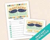 Mustache Bunco Bash Bunco Scorecard and Table Marker