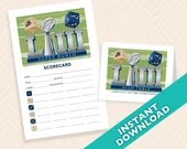 2019 Super Bowl Bunco Scorecard and Table Marker Set - Football Super Bowl Party