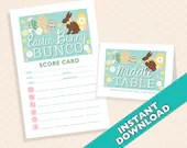 Easter Bunco  theme - Printable Spring Bunco Score and Table Card Set