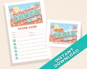 Hot Vax Summer Bunco score card and table marker set