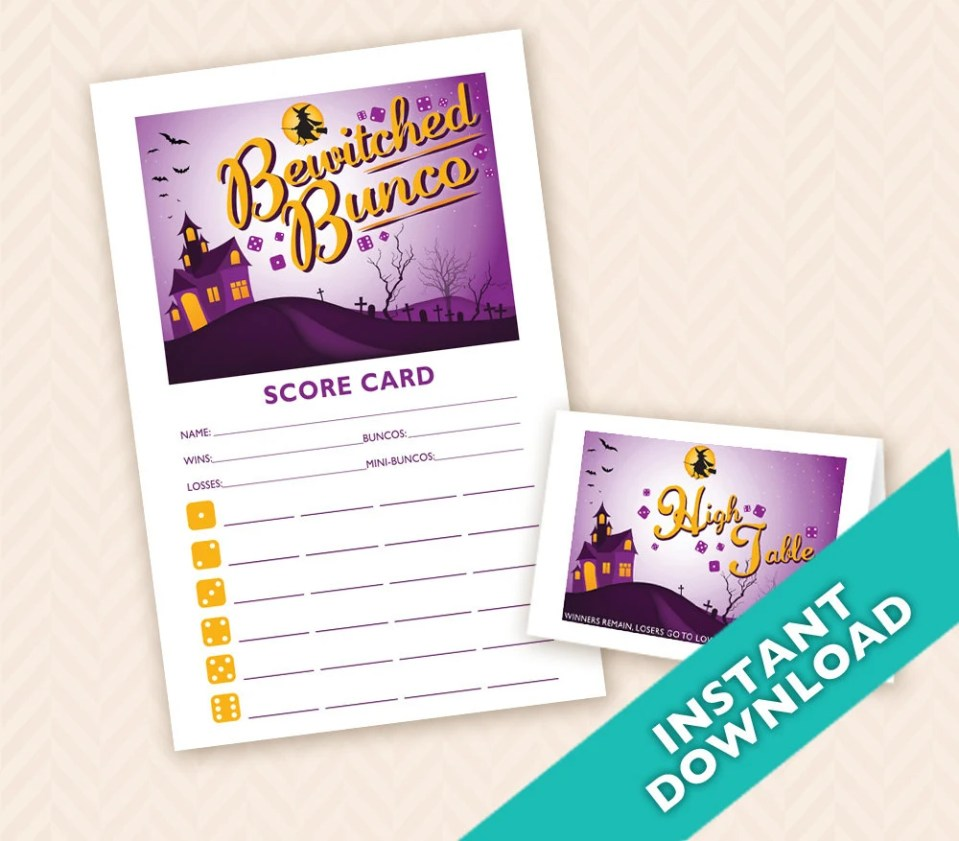 Bewitched Bunco - Printab...
