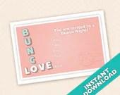 Valentines Bunco Invitation  - February Bunco Invitation (a.k.a. Bunko, score card, score sheet)