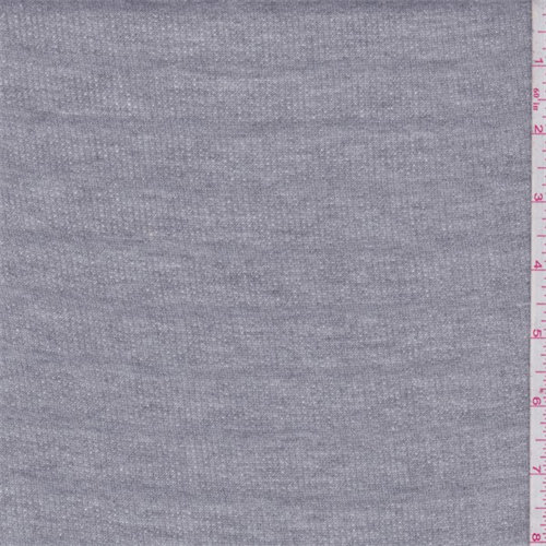 Heather Grey Muted Stripe French Terry Fabric By The Yard