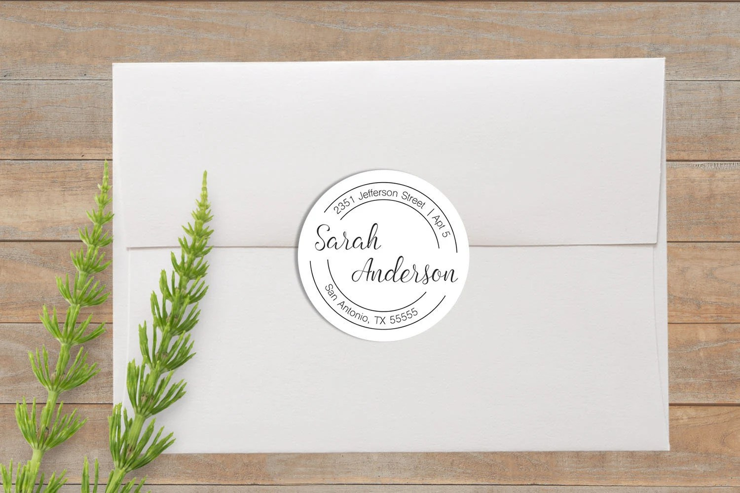 return address labels round