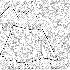 camping coloring page # 13