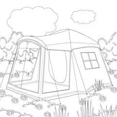 camping coloring page # 22