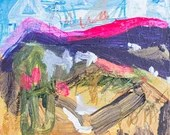 Tankwa Landscape 2 - gestural landscape - contemporary original fine art - synthetic polymer painting