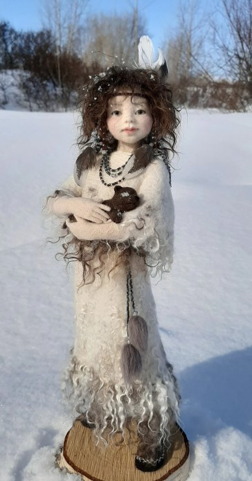 Available now Labiskvi Needle felted doll Art Doll Autor image 2