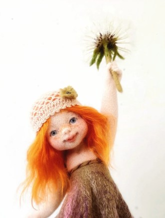 Available now Dandelion. Needle felted doll Art Doll Autor image 0