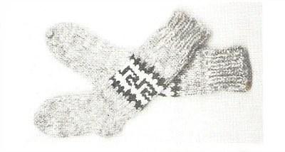 Cowichan White Buffalo Wool Sock Knitting Pattern Instant