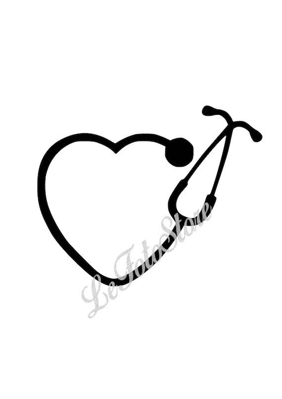 stethoscope Cricut Bundle SVG cut files Monogram letters
