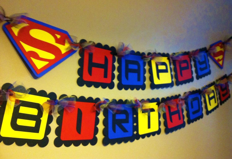 superman inspired happy birthday