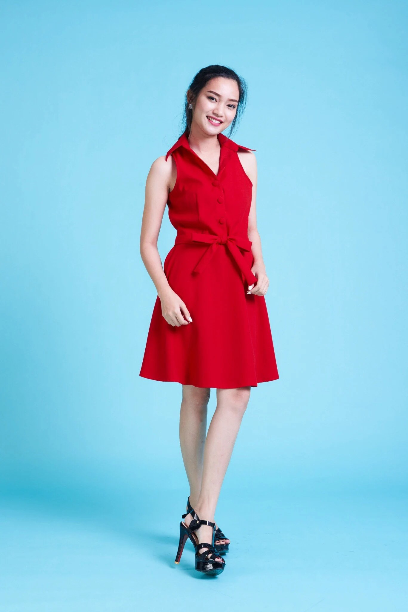 downtown scarlet red dress
