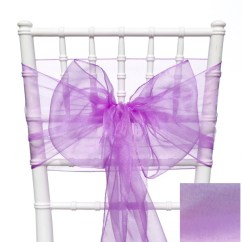 Purple Chair Sashes For Weddings Computer Desk With Orchid Wedding Bows Etsy Image 0