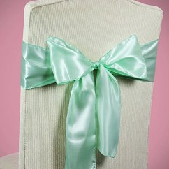 How To Make Chair Sashes Wanderer Accessories Mint Green Wedding Bows Etsy Image 0