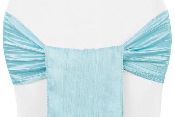 baby blue chair covers ikea hanging swing sashes accordion crinkle taffeta sash etsy image 0