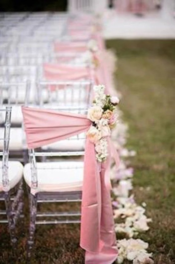 how to make a chair cover for wedding bedroom gumtree melbourne sashes blush pink 24 bows etsy image 0