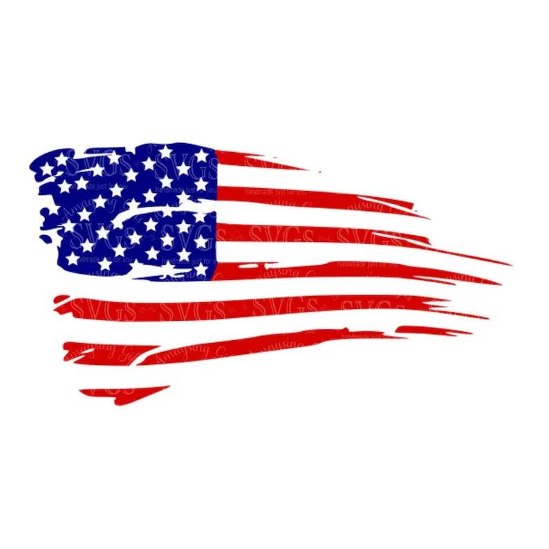 distressed american flag svg