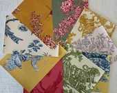Wallpaper Sample Bundle - 9 Pieces - Toile Themes - Cardmaking, Junk Journals, Scrapbook, Mixed Media, Altered Art - PA47