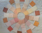 Embossed Paint Chip Sample Bundle - 2 sizes - 20 Pieces- Pinks, Peaches - Cardmaking, Junk Journals, Mixed Media - PA16
