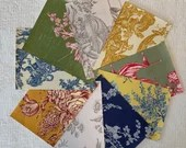 Wallpaper Sample Bundle - 9 Pieces - Toile Themes - Cardmaking, Junk Journals, Scrapbook, Mixed Media, Altered Art - PA48