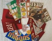"Game Box Chipboard, Cardboard - 10 Pieces - 5""x7"" in Matched Pairs - Junk Journals, Mixed Media, Altered Art - EA10"