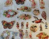 Vintage Reproduction Victorian Scrap Cutouts - 23 Pieces - Junk Journals, Collage, Cardmaking, Mixed Media, Altered Art - EA14