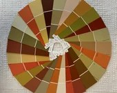 "Paint Chip Sample Strips - 2""x6.5"" - Set of 25 Strips - Autumn/Fall Colors - PA13"