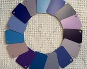 Italian Laminate Sample Chips - Set of 15 - Shades of Blue, Purple - Mixed Media, Altered Art, Junk Journal Tags PA11