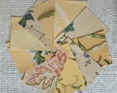 "Wallpaper Sample Bundle - 10 Pieces - 5""x7"" - Yellow Shades - Cardmaking, Junk Journals, Scrapbook, Mixed Media, Altered Art - PA38"