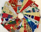 """Vintage Wrapping Paper Bundle - 20 Pieces - 5""""x7"""" - Christmas, Foil - Cardmaking, Junk Journals, Scrapbook, Collage, Mixed Media- EB09"""