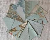 "Wallpaper Sample Bundle - 10 Pieces - 5""x7"" - Mint Green Shades - Cardmaking, Junk Journals, Scrapbook, Mixed Media, Altered Art - PA42"