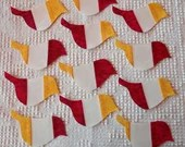 Bird IronOn SewOn Appliques Upcycled Modern Quilt Blocks, Set of 12  AB71