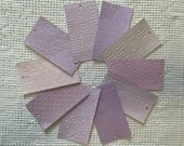 """Embossed Paint Chip Sample Bundle - 3x5.5"""" - 10 Pieces- Purple Violet - Cardmaking, Junk Journals, Collage, Mixed Media - PA28"""