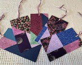 Junk Journal Tags Upcycled from Cutter Quilt Remnants & Paint Chip Samples AD06