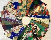 """Vintage Wrapping Paper Bundle - 24 Pieces - 5""""x7"""" - Christmas, Holiday - Cardmaking, Junk Journals, Scrapbook, Collage, Mixed Media- EB08"""