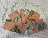 Junk Journal Tags Upcycled from Cutter Quilt Remnants & Paint Chip Samples AD03