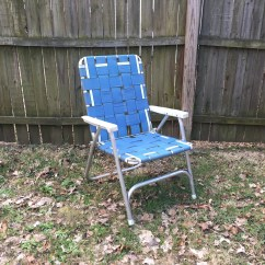 Vintage Lawn Chair Keekaroo Height Right High Folding Etsy Blue Retro Aluminum Outdoor Camping Cookout Patio Party Portable Tall Back