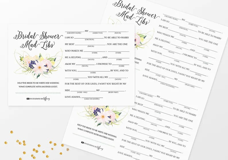 Instant Download Original Help the Bride-to-be Write Her