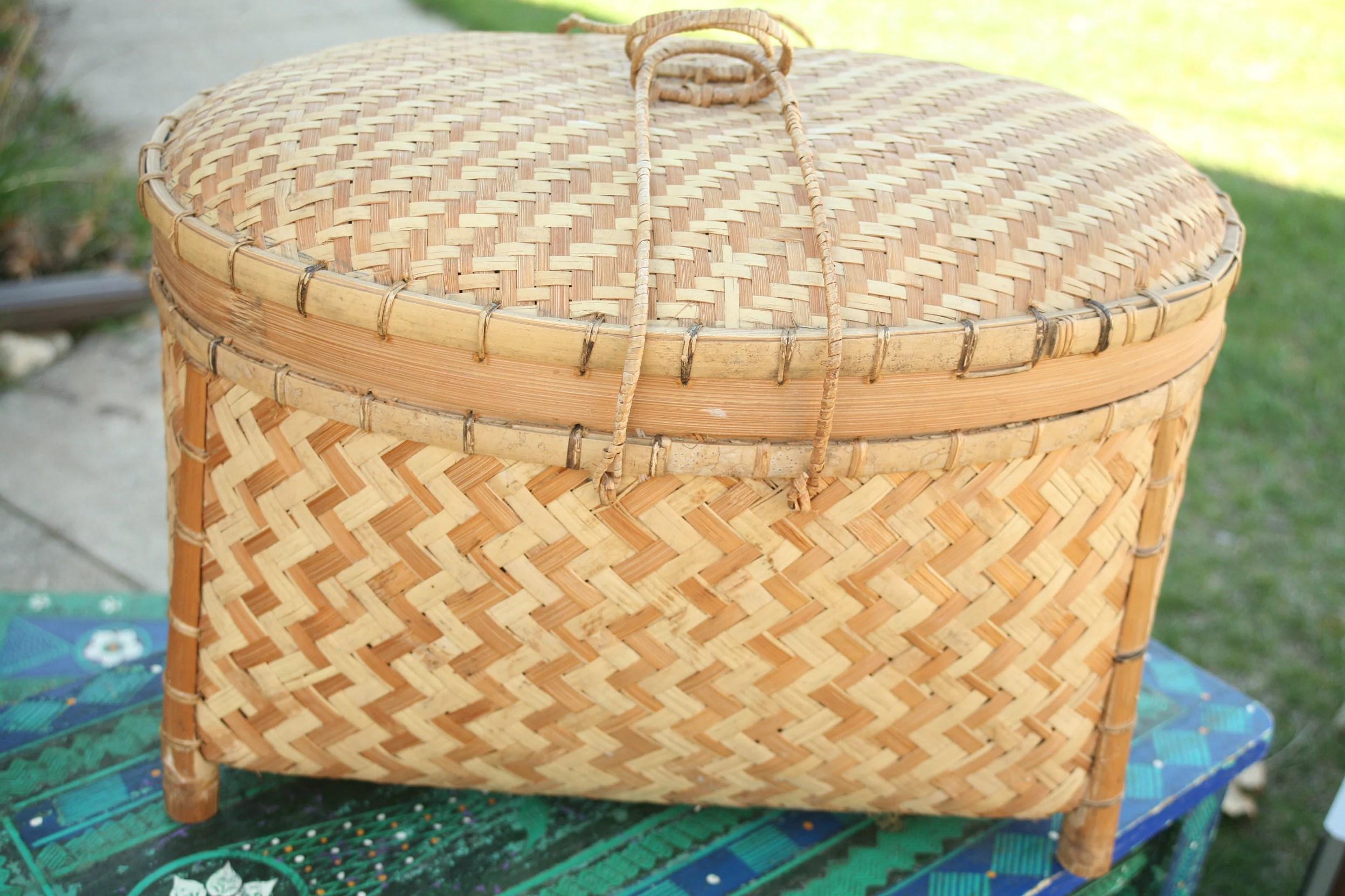 vintage chinese basket romantic