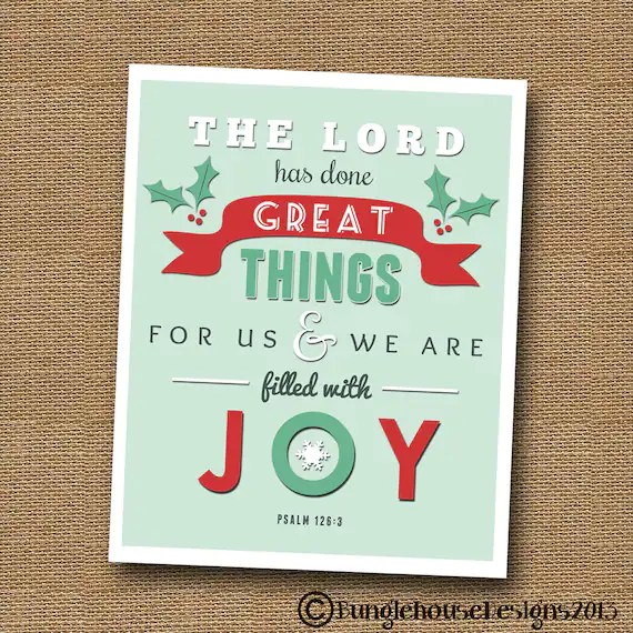 filled with joy printable