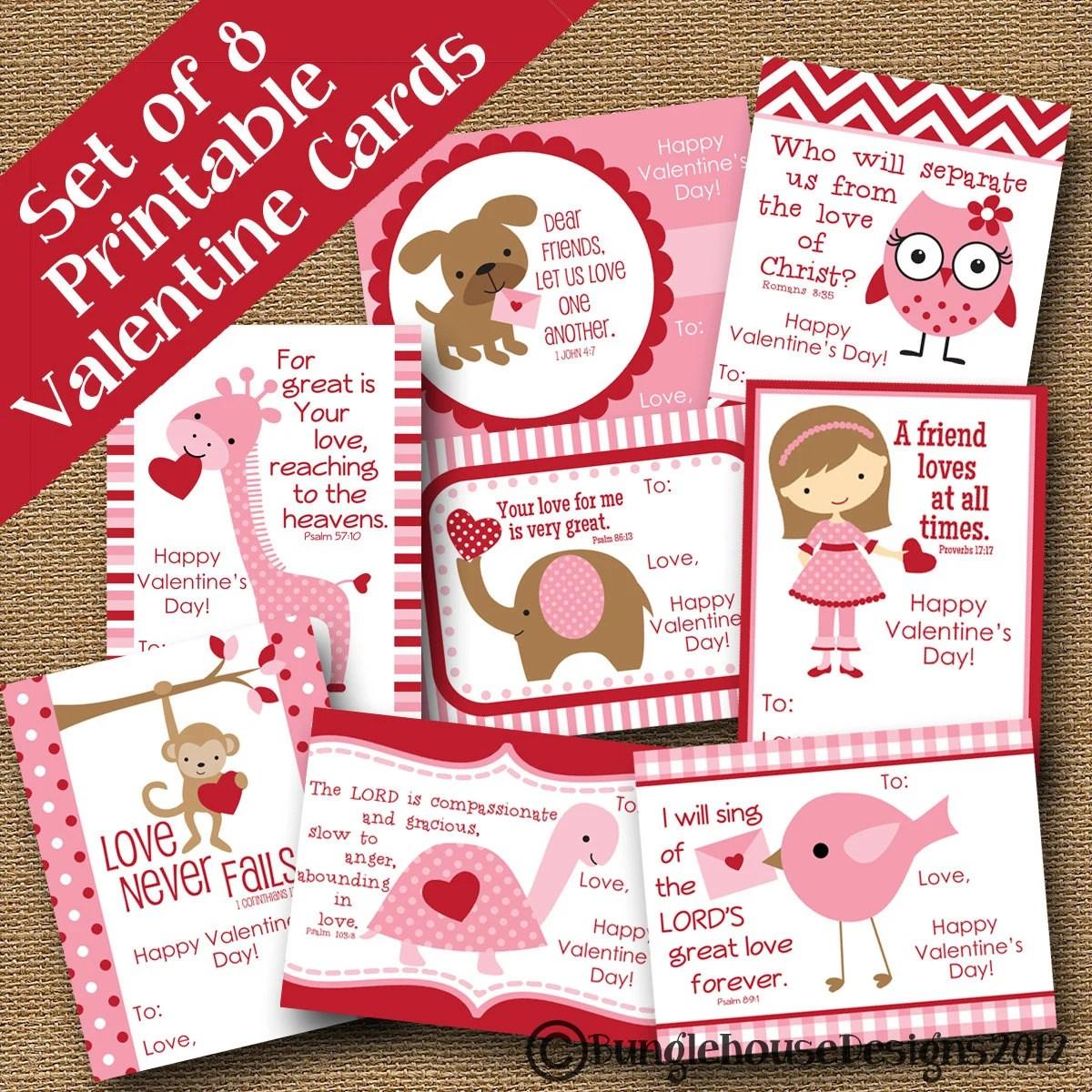 Girls Valentines Diy Printable Scripture Bible Verse Card